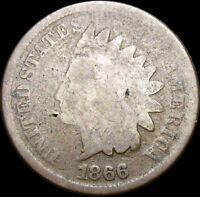 1866 Indian Cent Penny  ---- Nice Coin ---- #W081