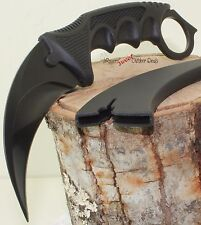 Full Black Claw Dagger Karambit Hawkbill Military Tactical Survival Neck Knife