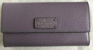 New Kate Spade New York Jean Wellesley wallet Leather Lush Lilac