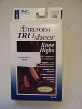 TruForm Tru Sheer Compression 20-30 mmHg Black Large Knee Trusheer 0263BL-L