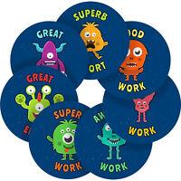 Cute Funny Space Aliens Sticker Labels Children Teacher Praise Parent School