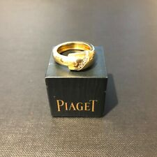 Piaget 18ct Yellow Gold Dancer Ring with One Row of Diamonds