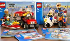 Lego City - 7235 Police Bike,  7241 Fire Truck,  4992 Fire Boat, 5626 Motorcycle
