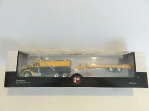 "FIRST GEAR 50-3406 KENWORTH T880 Dump Truck w/ Beaver Tail Trailer 1:50 ""NEW"""