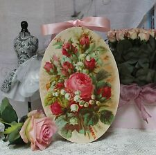 """~ """"Summer Roses..."""" Shabby Chic Vintage Country Cottage style Wall Decor. Sign ~"""