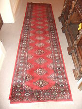"Carpet rug oriental RUNNER red thick 108x32"" wool 81x336cm .. 5"