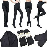Damen Premium Thermo Strumpfhose Matt Warm Weich Blickdicht Baumwolle 95%