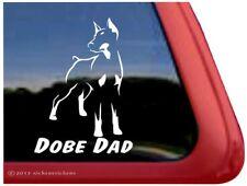 Dober Dad |Cropped Doberman Pinscher Dog Window Decal Sticker