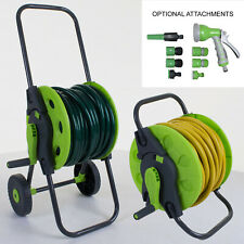 More details for hose reel cart trolley garden outdoor hosepipe water pipe portable freestanding
