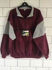 MENS VINTAGE RETRO 90'S USA BRIGHT BOLD BASEBALL SPORT SWEATSHIRT SWEATER L/XL