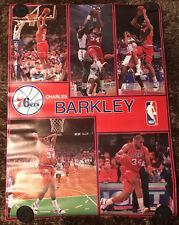 "1990 Starline Charles Barkley Philadelphia 76ers Poster 56"" x 42"" EX+ Condition"