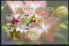 Liberia 2011 MNH Orchids of Africa 4v MS Flowers Flora Maude's Bolusiella Stamps