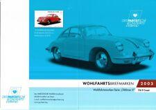 BRD 2003 gestempelt ESST Klb in Faltkarte Wohlfartsmarken MiNr. 2364 Porsche 356