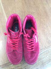 Vans 6.5 Red Suede Hi-tops.