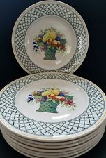 HUGE VILLEROY & BOCH BASKET 1160 pattern Chop Plates/Round Platters