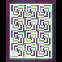 Psychedelic, Baby Quilt pattern - Cozy Quilt Design