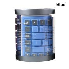 Ultra Thin Wireless Bluetooth Keyboard Silicone Waterproof Flexible for iPad PC Blue