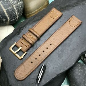"""rare 1940s Single Layer Hazel Pigskin 5/8"""" Vintage Watch Band & Deluxe Buckle"""