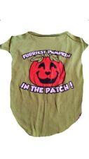 """Medium Dog Halloween T-shirt """"furriest Pumpkin In The Patch"""" Pumpkin Pet"""