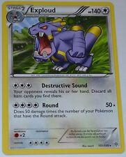 Exploud # 107/135 Noir & Blanc Plasma Orage Set Pokemon Échange TCG Jeu Cartes