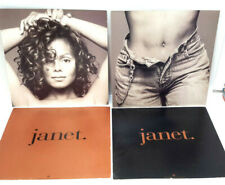 "Original Janet Jackson Record Album 12""x12"" Insert Set of 2 (J-6101)"