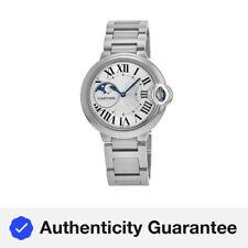 New Cartier Ballon Bleu Moonphase Silver Dial Unisex Watch WSBB0021