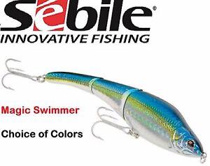 "Sebile 228 MM Magic Swimmer, Sinking Model, 9"", Choice of Colors"