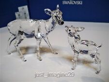 Swarovski Doe & Fawn 2012 Limited Edition Retired 5001052 Bnib