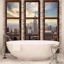 WALL MURAL PHOTO WALLPAPER XXL New York City Skyline Window View (2832WS)