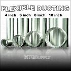 4 6 8 10 FLEXIBLE Aluminum DUCTING HOSE 8 25 ft EXHAUST DUCT AIR VENT fan foot w