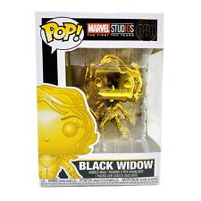 Marvel Studios 10 Years Black Widow Funko Pop Gold Vinyl Figure 380 w Protector