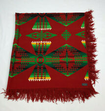 Pendleton Fringe Blanket Native Aztec Wool Copyright 1921