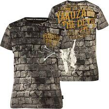 YAKUZA The Devil T-Shirt TSB-16011 Schwarz T-Shirts Herren  Yakuza