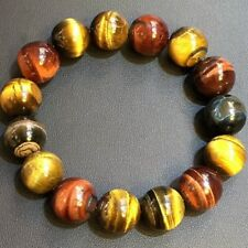 Beads Bracelet Aaa 14mm Natural Multi-Color Tiger's Eye Gemstone