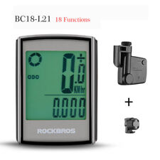 ROCKBROS 18 Function Cycling Bike Computer Speedometer Odometer LCD Backlight