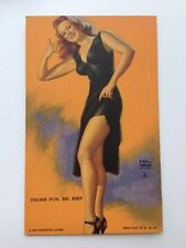 Vintage Pin Up Girl Picture Mutoscope by Earl Moran Showing Some Leg for a Ride