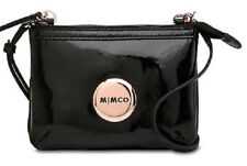 Mimco Loves Secret Couch Patent Quilted leather black rosegold hip crossbody bag
