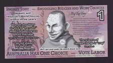 Australia political note Abbott Work Choices Smuggling Budgies Julia Gillard