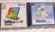 Microsoft Office 2000 actualización estándar + funciona 2000 (software Vintage)