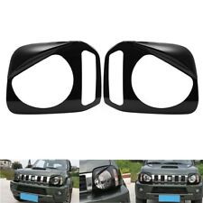 2 Pcs ABS Head Light Lamp Cover Trim Frame For Suzuki Jimny 2007-2015 Black