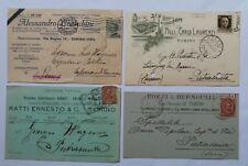 TORINO lotto di 4 vecchie cartoline pubblicitarie pubblicità 1891, primi '900