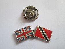 Trinidad -Tobago & Uk Friendship Enamel Metal Lapel Pin  -24 x 8mm   -  L094
