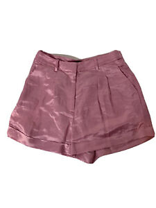J Crew Women 6 Solid  Linen Blend Silky Shorts Pink Dressy New With Tags