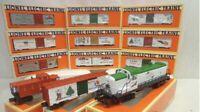 ✅LIONEL CHRISTMAS TRAIN SET W/ RS-3 DIESEL ENGINE, CARS, CABOOSE 6-18827 O GAUGE