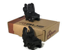 MAGPUL PTS GEN1 MBUS Front and Rear Backup Polymer Sight Folding Train Black