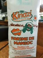 Kinazi Fine Cassava Flour 2kg (4,4lbs)_Farine de Manioc_Ugali_shima_fufu