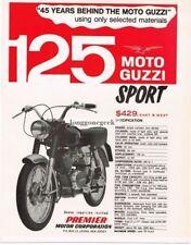 1966 Moto Guzzi Sport 125 Motorcycle Vintage Ad