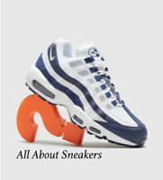 """Nike Air Max 95 Essential """"White-Blue"""" Men's Trainers Limited Stock"""