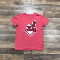 Cleveland Indians Kids T-Shirt Youth Boys Large 10-12 Wahoo Tribe Browns Cavs