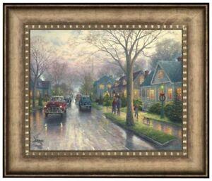 Thomas Kinkade Hometown Christmas 16 x 20 Brushstroke Vignette (Framed)